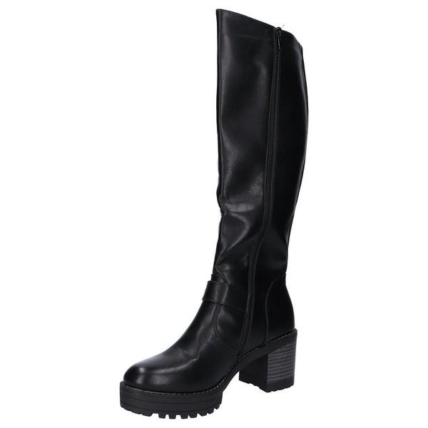 7cm Bota tacón mujer - negro