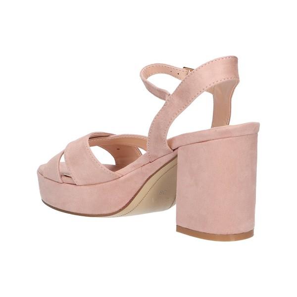 8cm Sandalia tacón mujer - rosa