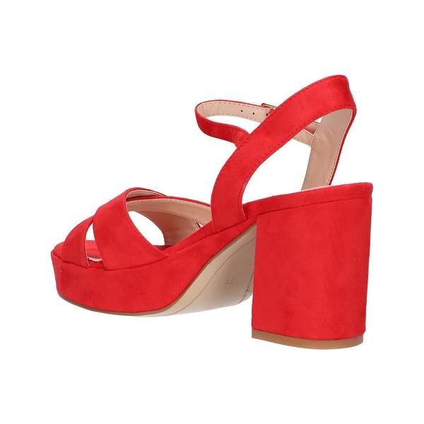 Sandalia tacón mujer - rojo