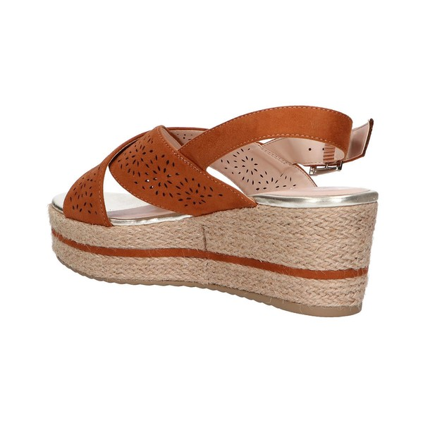 7cm Sandalia cuña mujer - marrón