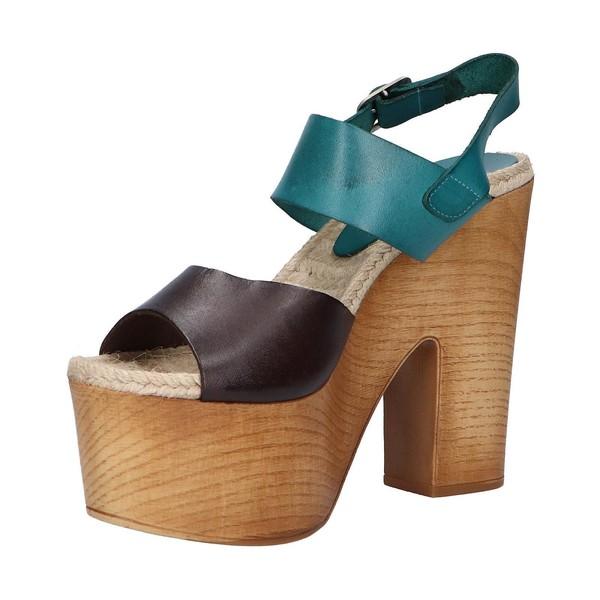 13cm Sandalia tacón piel mujer - marrón