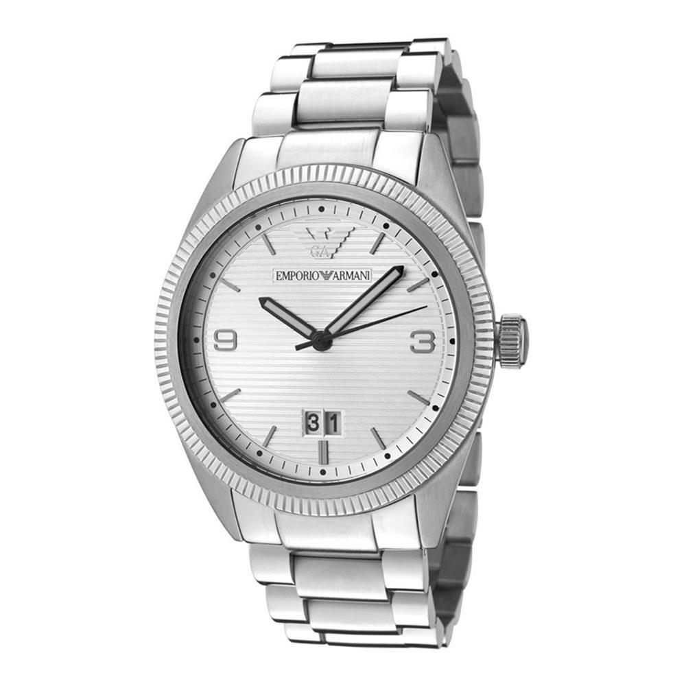 Reloj analógico acero hombre - plateado