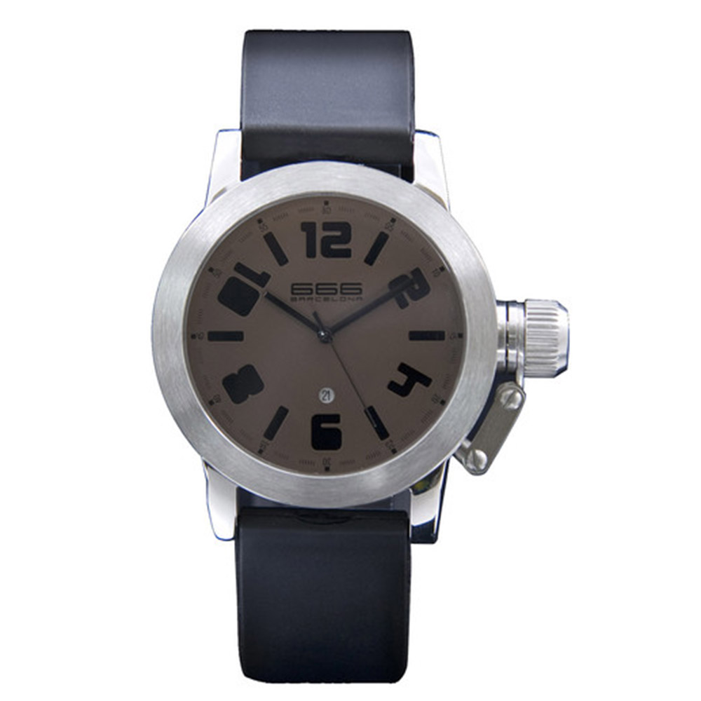 Reloj analógico hombre caucho - negro/morado