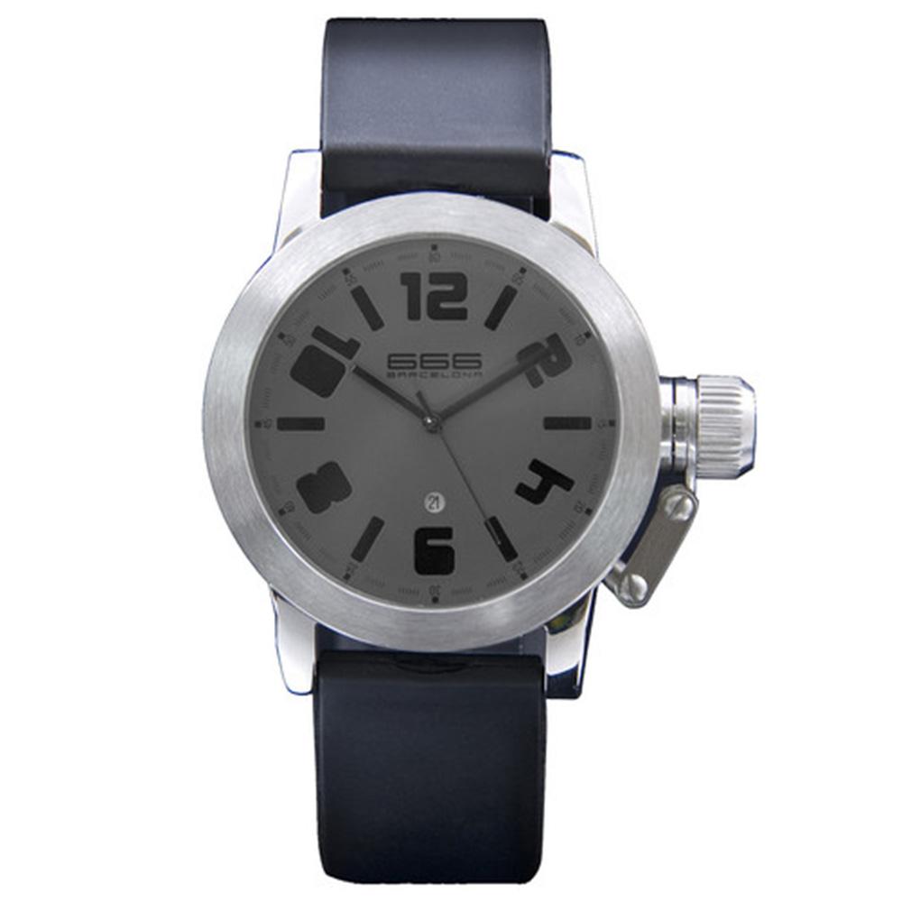 Reloj analógico caucho hombre - negro/gris