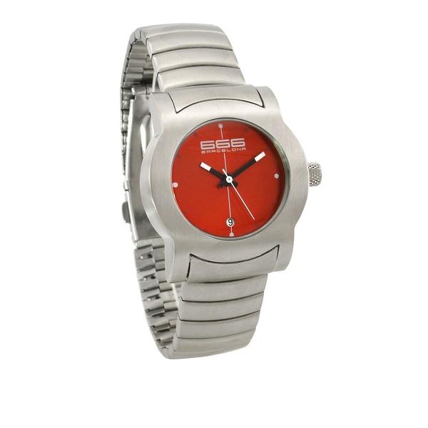 Reloj analógico mujer acero - gris