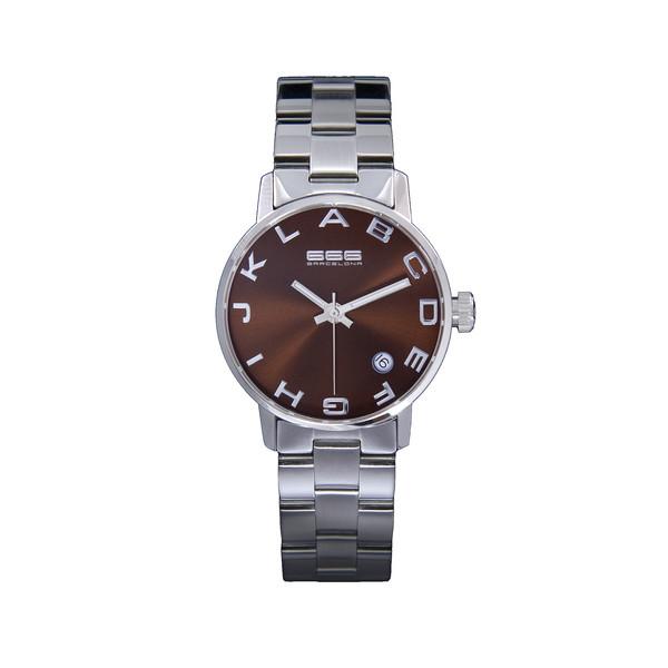 Reloj analógico acero unisex - plateado