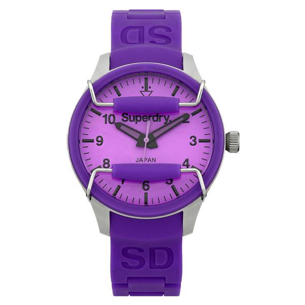 Reloj analógico acero mujer - violeta