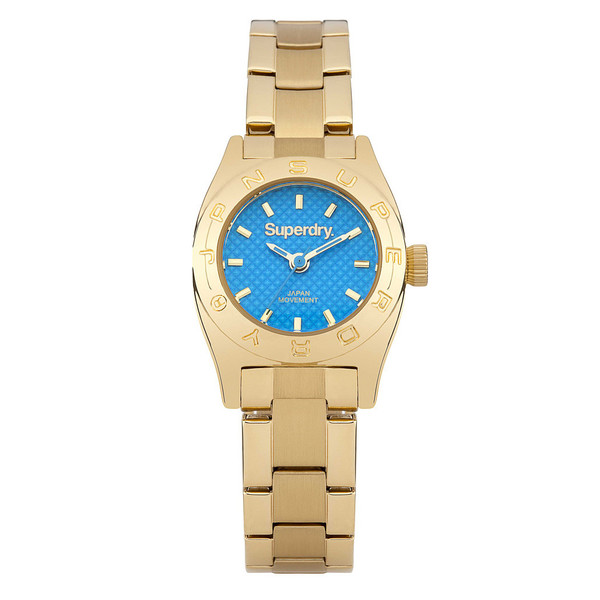 Reloj analógico acero mujer - dorado/azul
