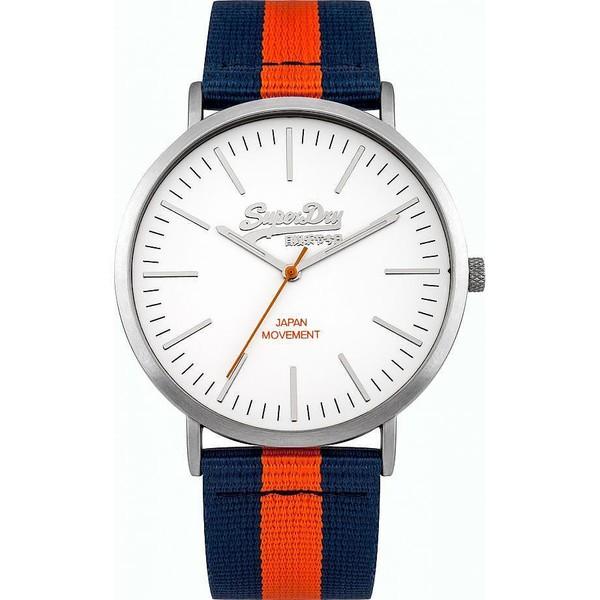Reloj analógico nylon hombre - naranja/azul