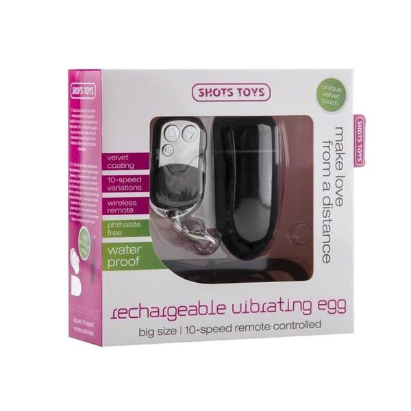 Huevo vibrador recargable 10 velocidades negro