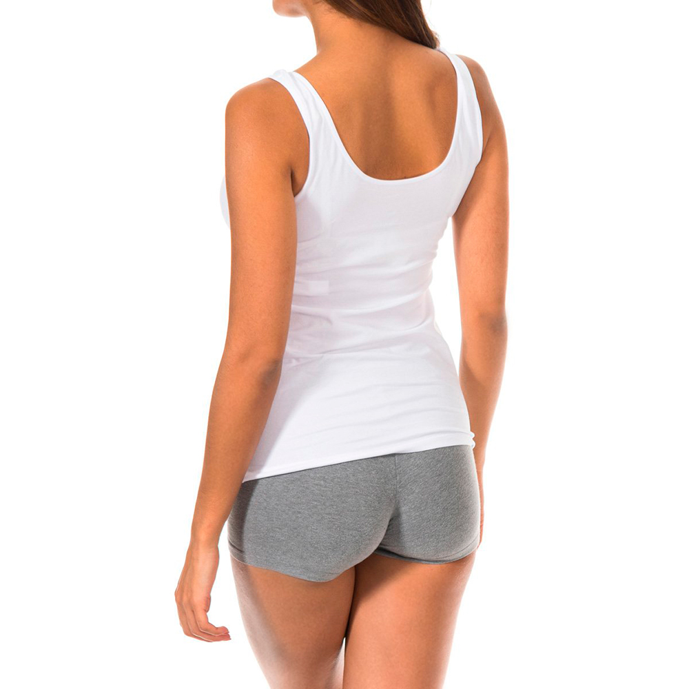 Camiseta tirante ancho - blanco