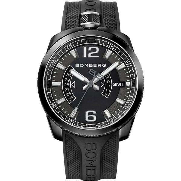 Reloj hombre analógico acero/caucho - negro