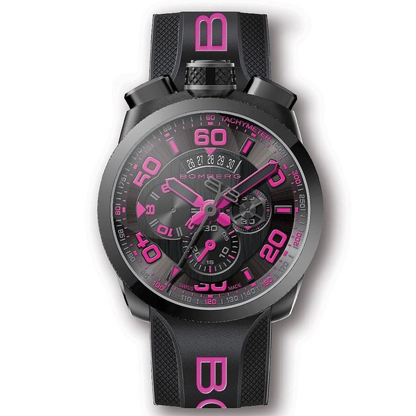 Reloj analógico silicona hombre - negro/rosa