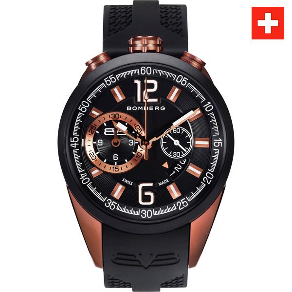 Reloj analógico acero/silicona hombre - negro