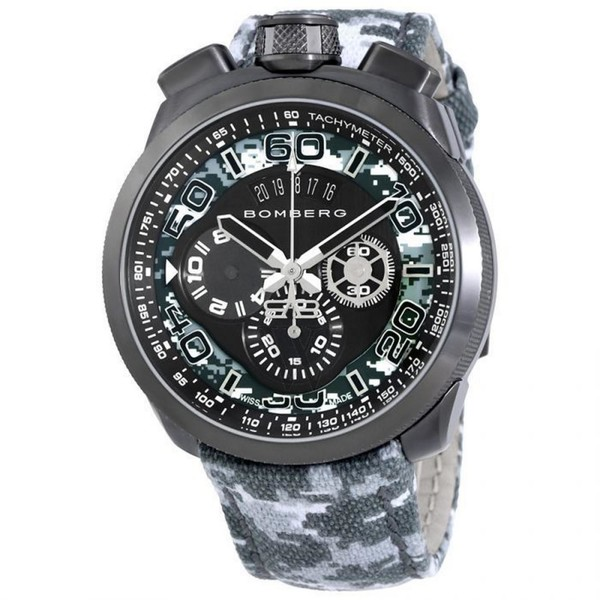 Reloj analógico piel hombre - gris