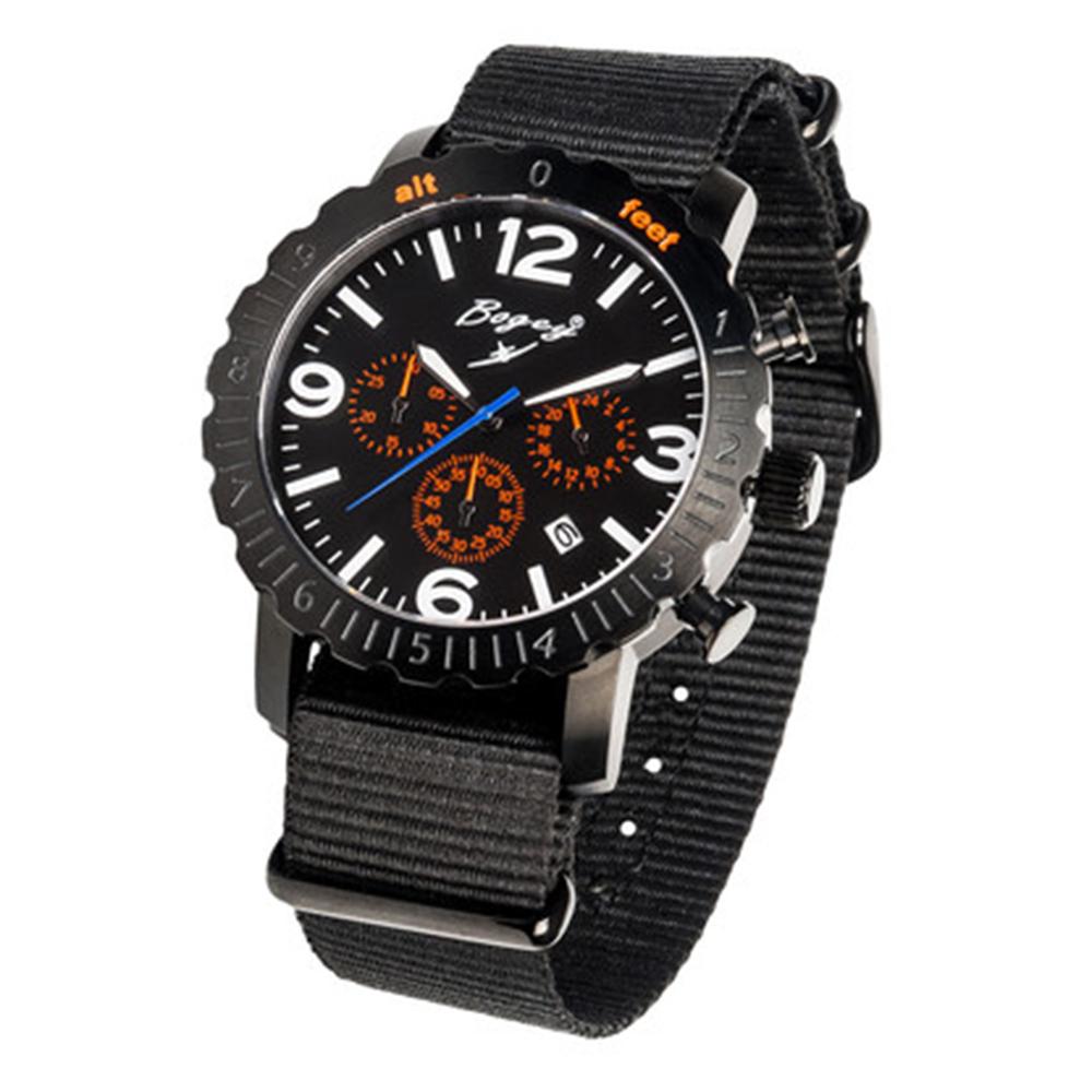 Reloj analógico caucho/nylon hombre - negro