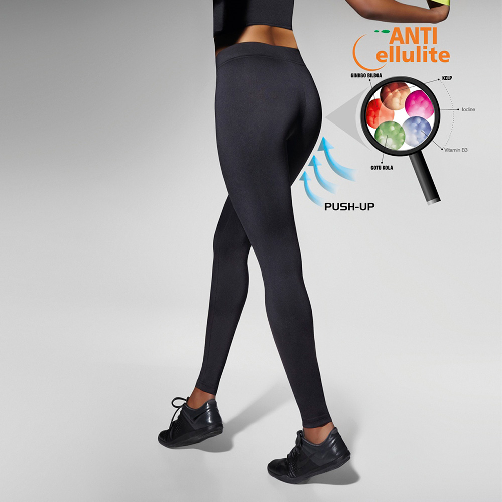Legging fitness push up Riley - negro