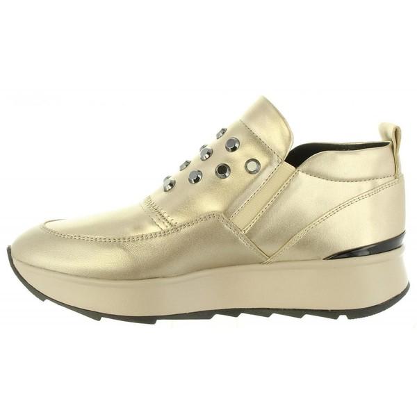 Sneaker piel mujer - dorado