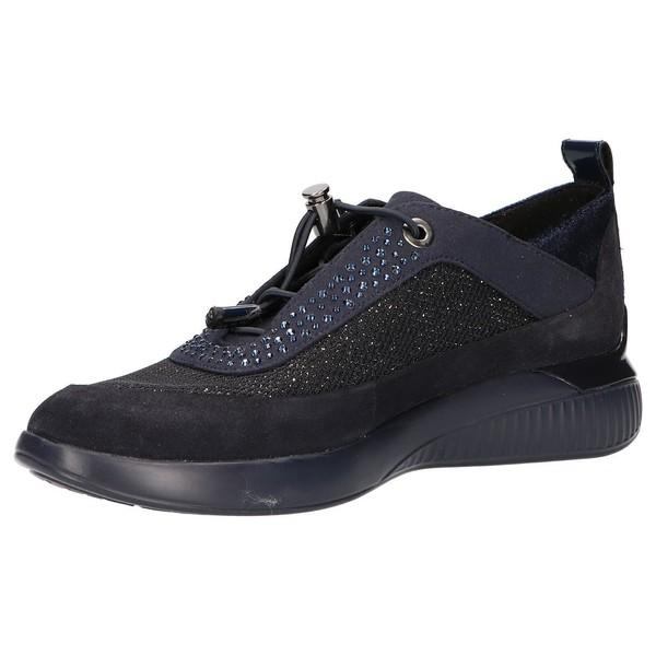 Sneaker piel mujer - azul