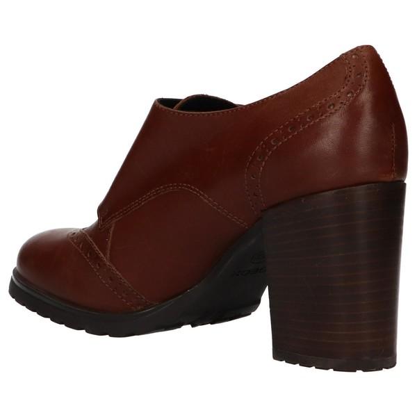 7cm Zapato tacón piel mujer - marrón