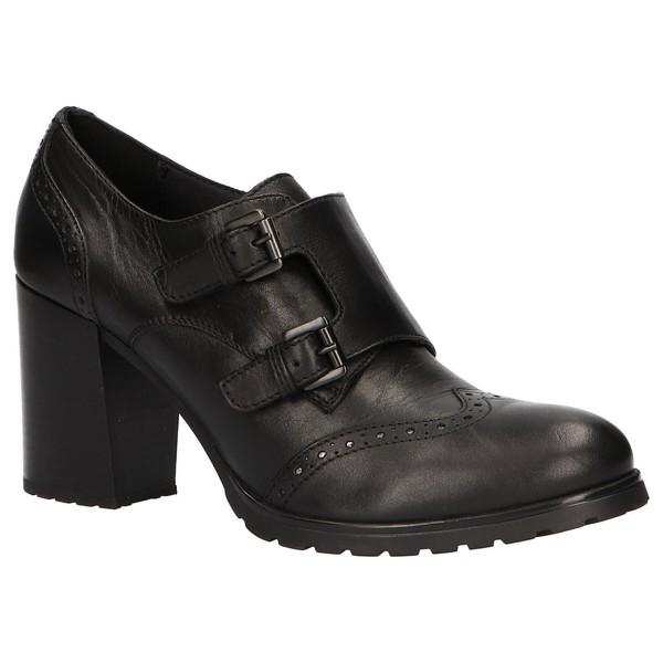 7cm Zapato tacón piel mujer - negro