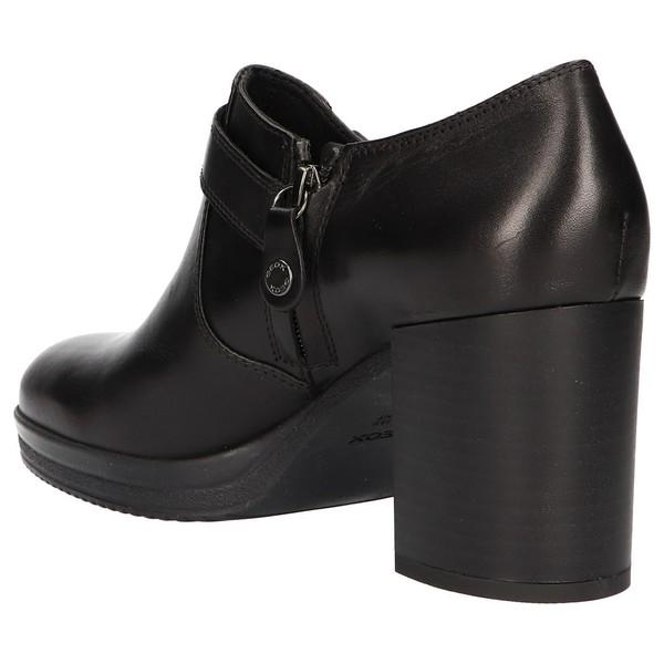 8cm Zapato tacón piel mujer - negro
