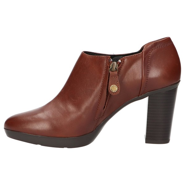 8cm Zapato tacón piel mujer - marrón