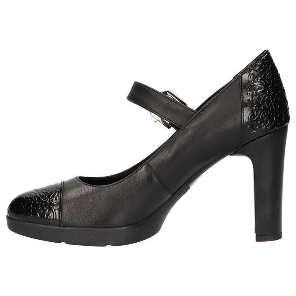 10cm Zapato tacón piel mujer - negro