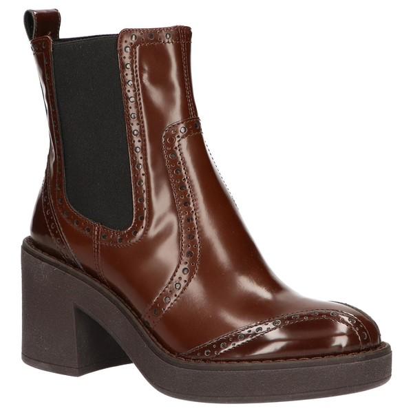 7cm Bota tacón mujer - marrón