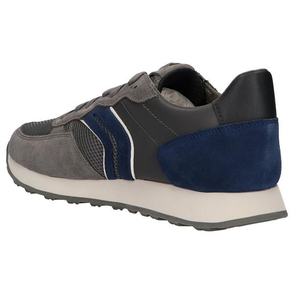 Sneaker pieltextil hombre gris
