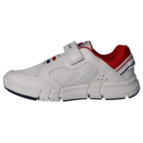 Sneaker piel/textil infantil/junior - blanco