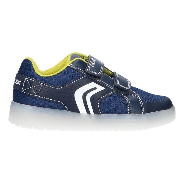 Sneaker piel infantil - azul