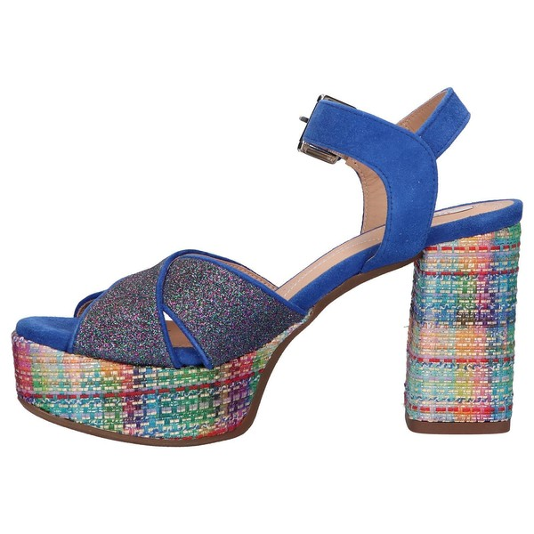 10cm Sandalia tacón mujer - azul