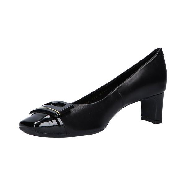 4cm Zapato tacón piel mujer - negro