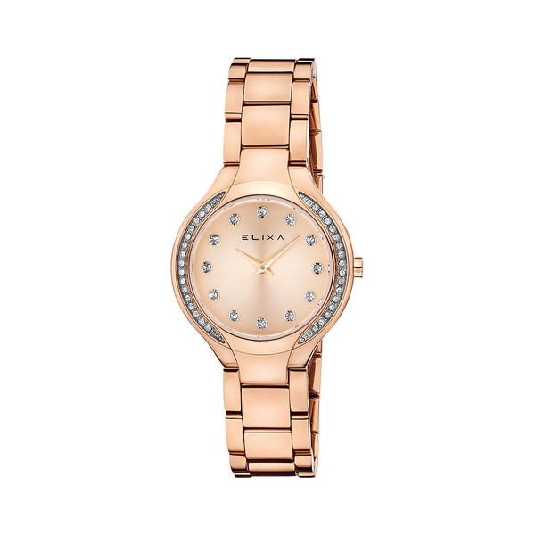 Reloj analógico acero mujer - bronceado