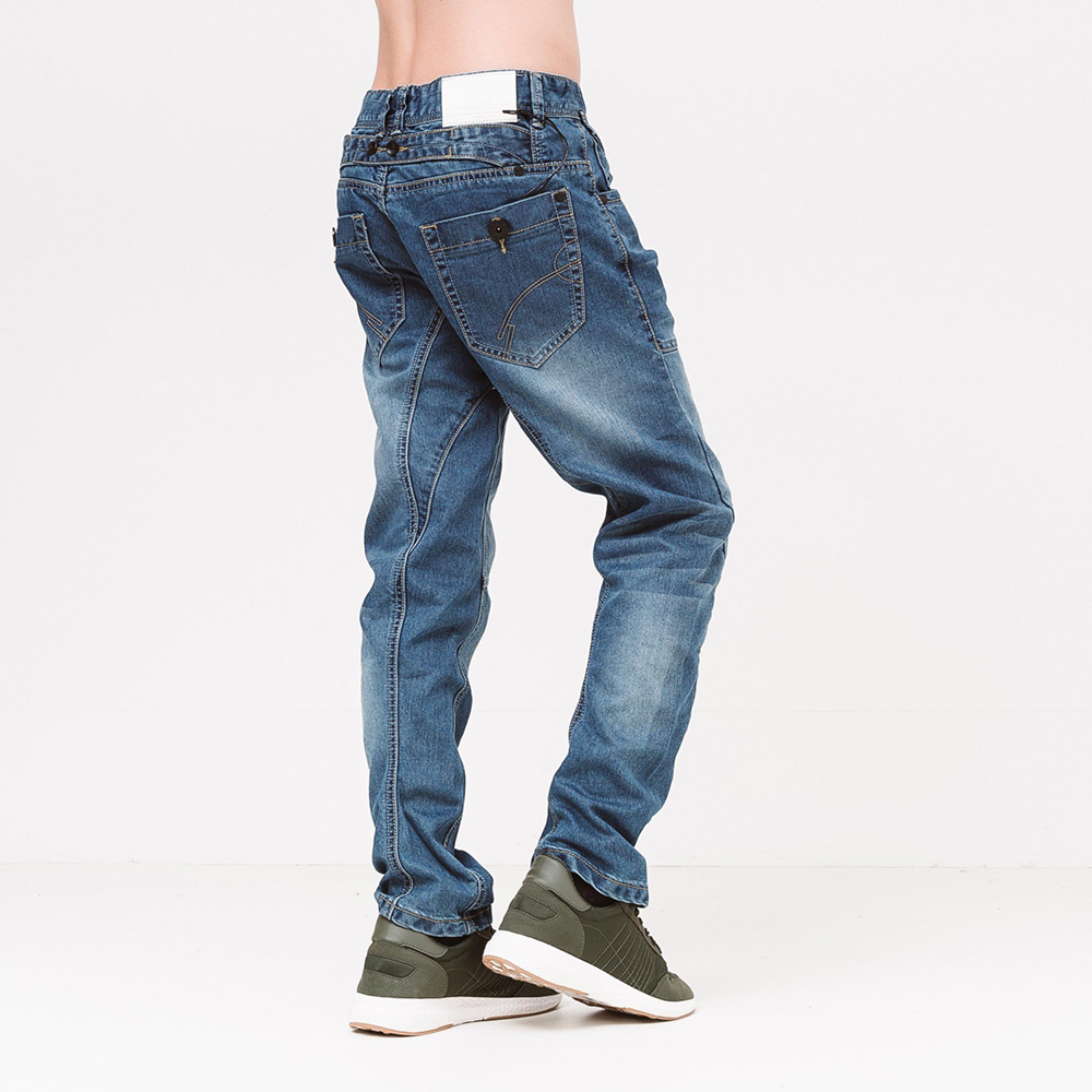 Pantalón denim curved leg liffy - azul lavado
