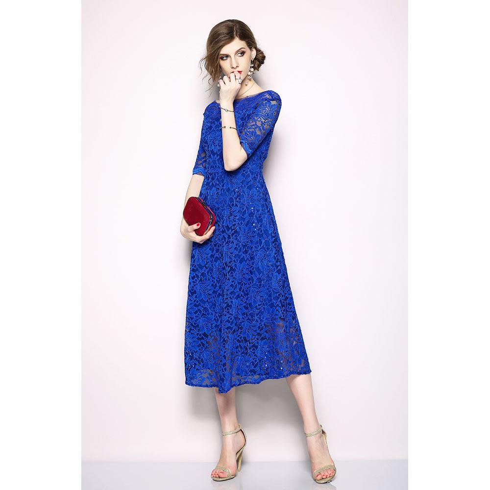 Vestido Slim fit - azul