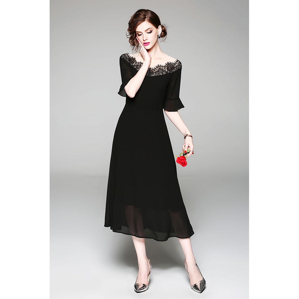 Vestido Slim fit - negro