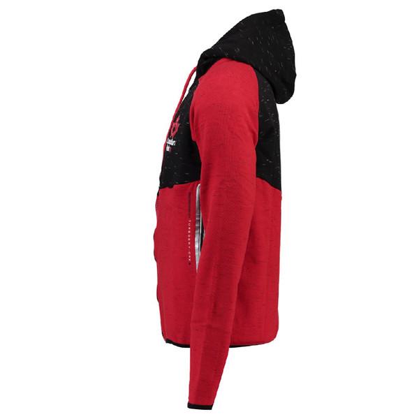 Sudadera con capucha cadigan hombre - rojo