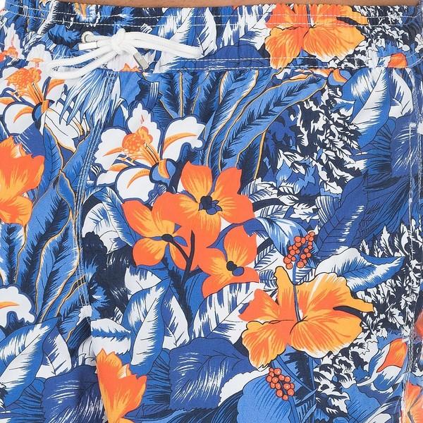 Bañador bermudas hombre - azul/naranja