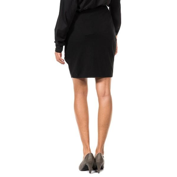 Falda punto mujer - negro