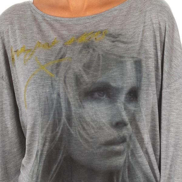 Camiseta m/larga mujer - gris