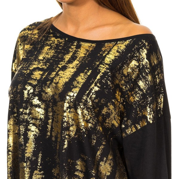 Camiseta m/larga mujer - negro