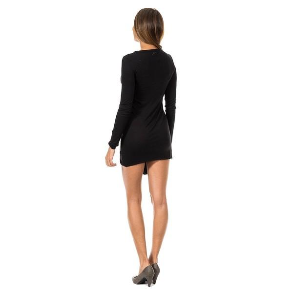 Vestido m/larga mujer - negro