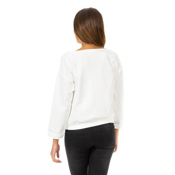 Jersey m/larga mujer - blanco