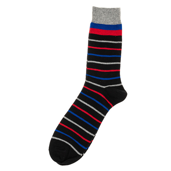 Calcetines mujer - negro/rayas