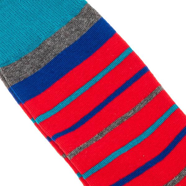 Calcetines mujer - rojo/rayas