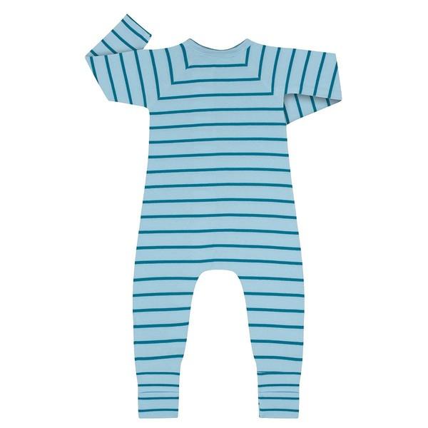 Pelele manga larga con cremallera Dim BEBE - Azul