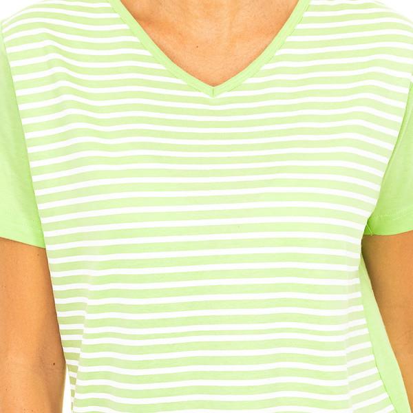 Pijama m/corta mujer - verde/blanco