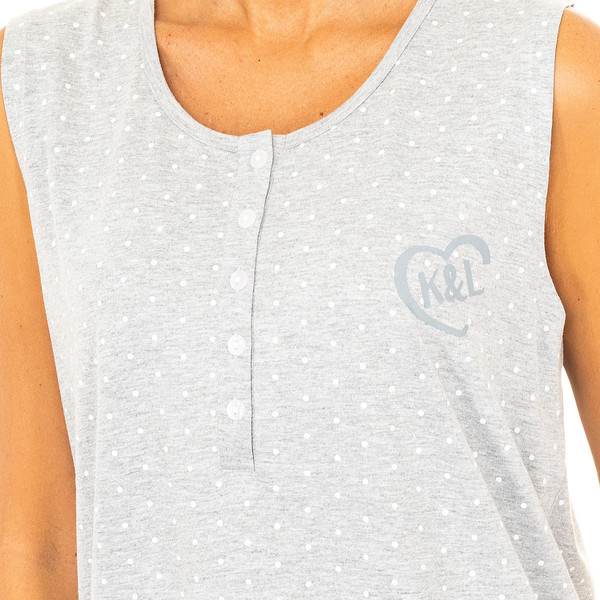 Camisón s/mangas mujer - gris